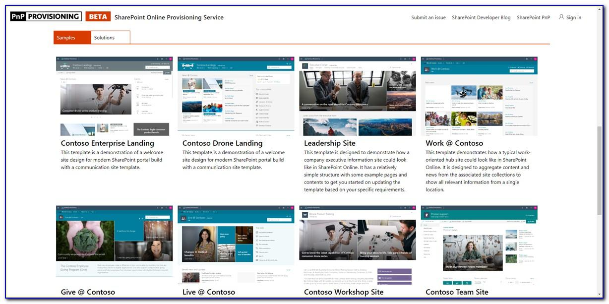 Sharepoint Online Intranet Templates Free