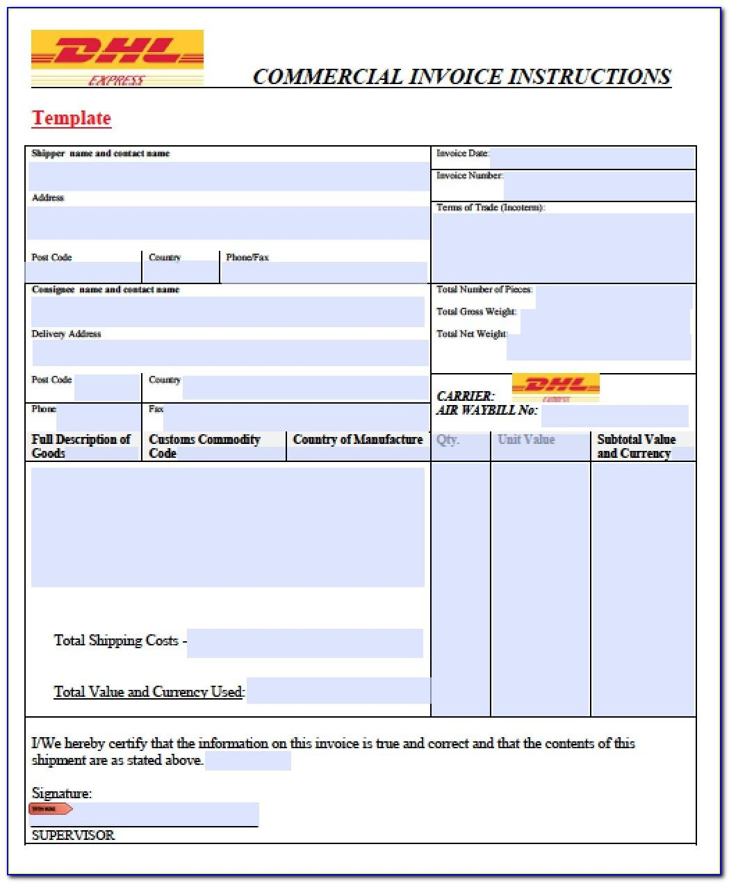 Shipping Invoice Format Excel