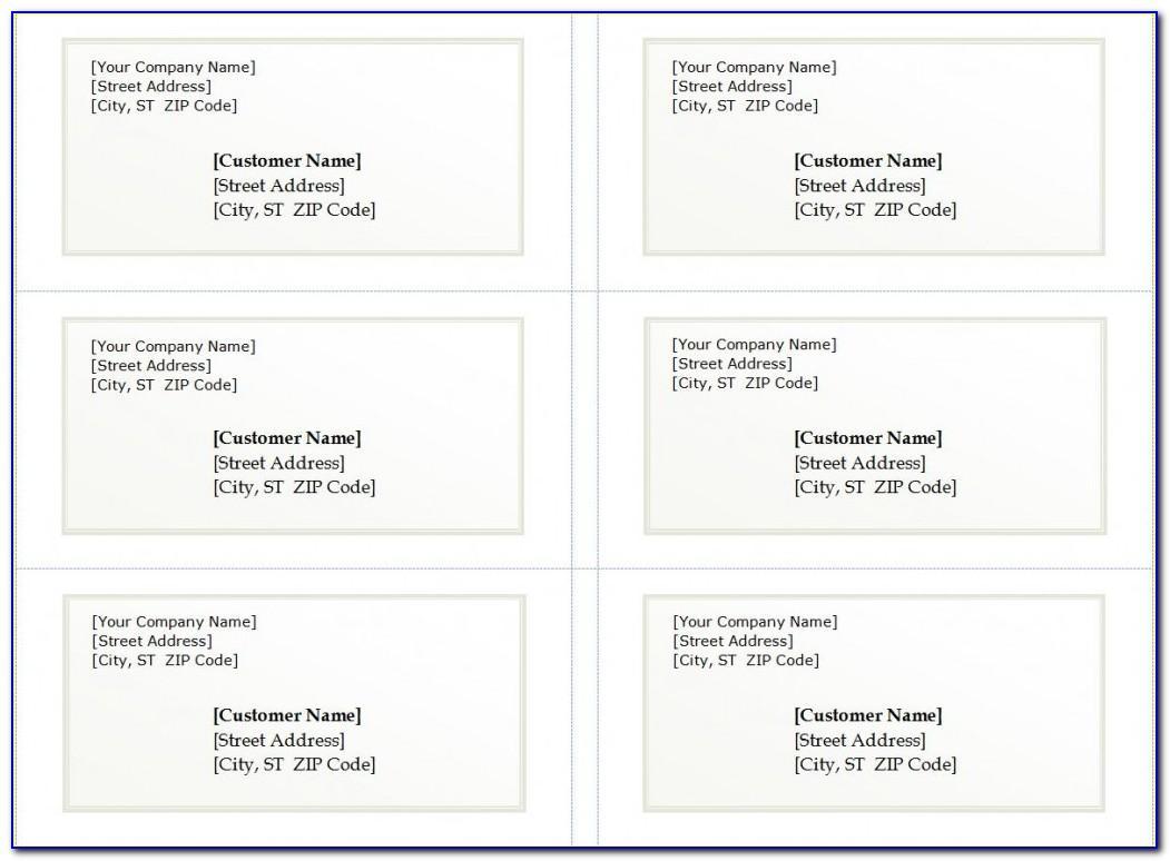 Shipping Label Template 30 Per Sheet
