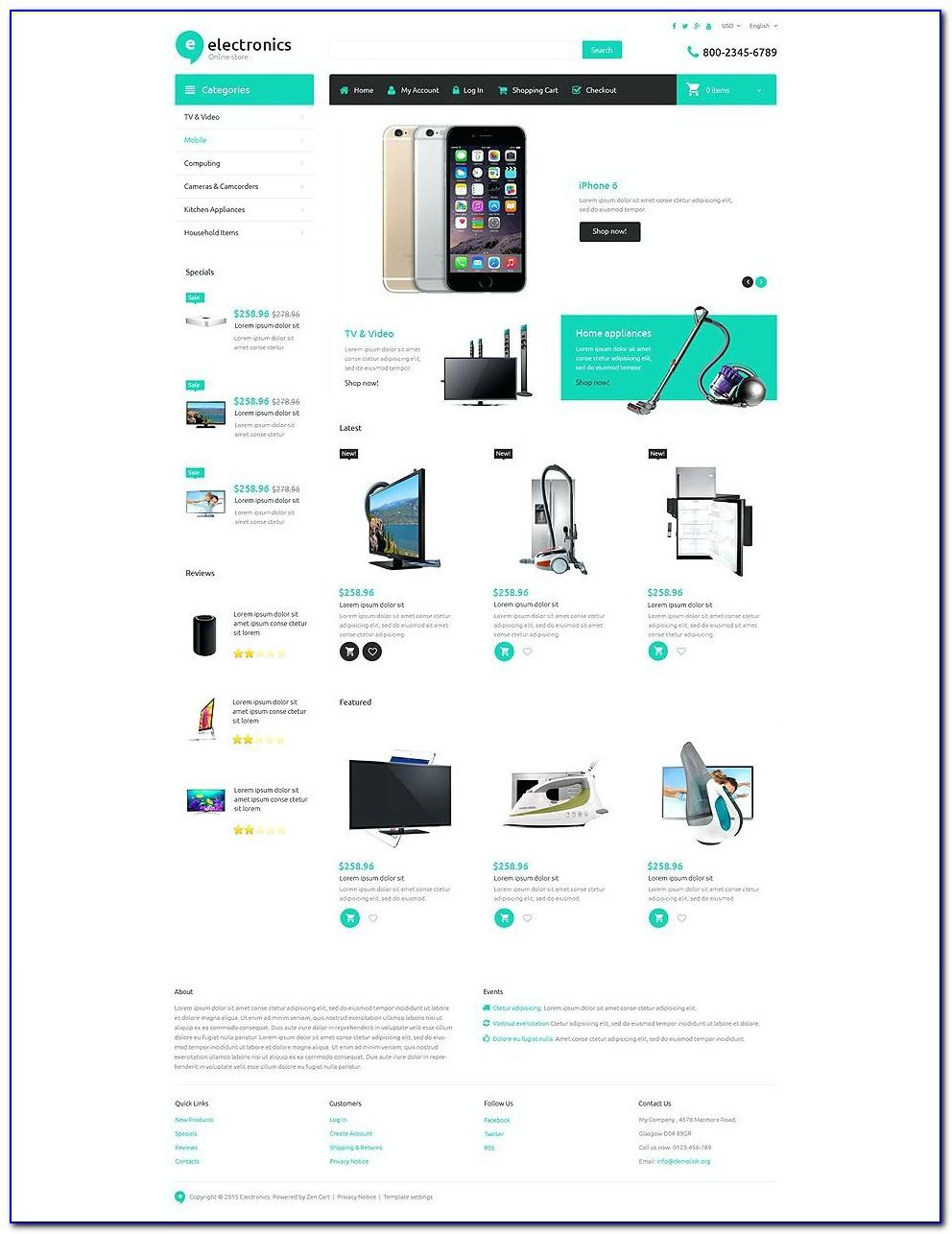Shopping Cart Template Bootstrap 4