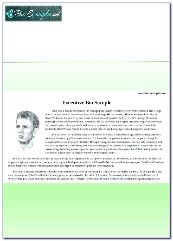 Short Real Estate Bio Samples