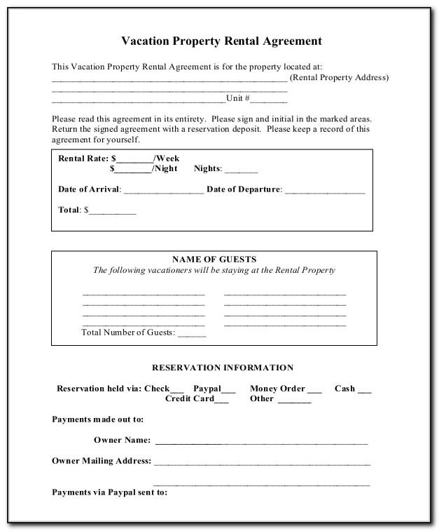 Short Term Tenancy Agreement Form Template