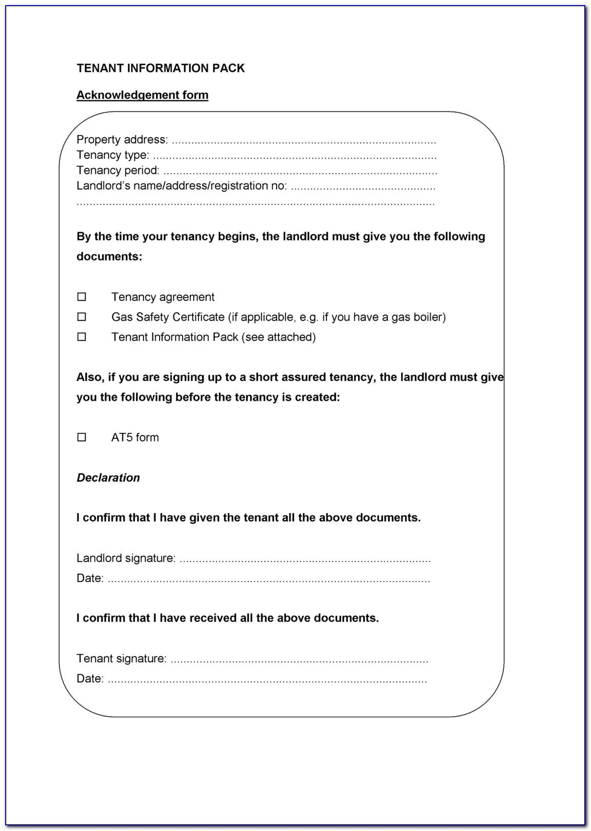 Short Term Tenancy Agreement Template Free Uk