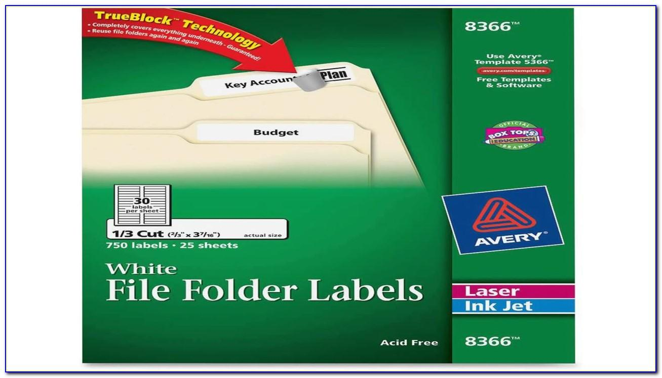 Simon File Folder Labels Template