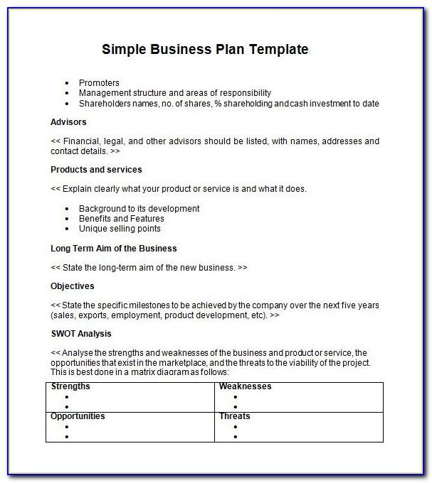Simple Action Plan Template Free
