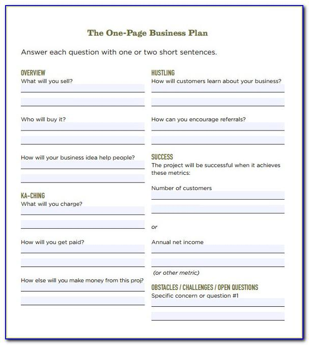 Simple Business Plan Template Free Download