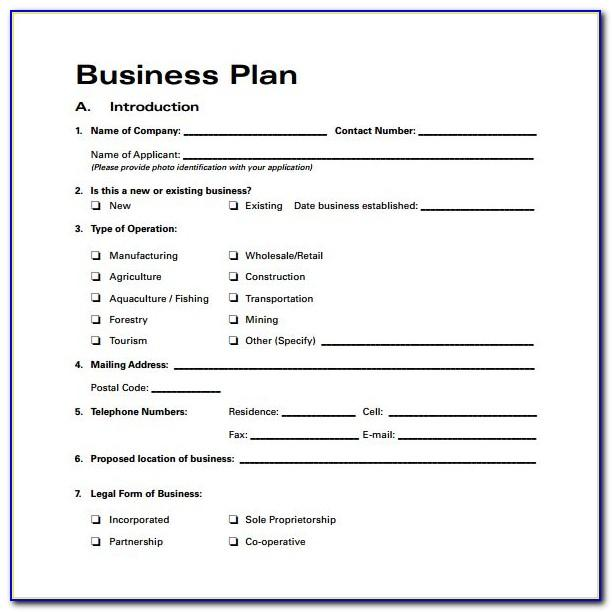 Simple Business Plan Template Free