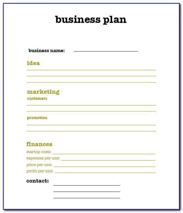 Simple Business Plan Template Pdf