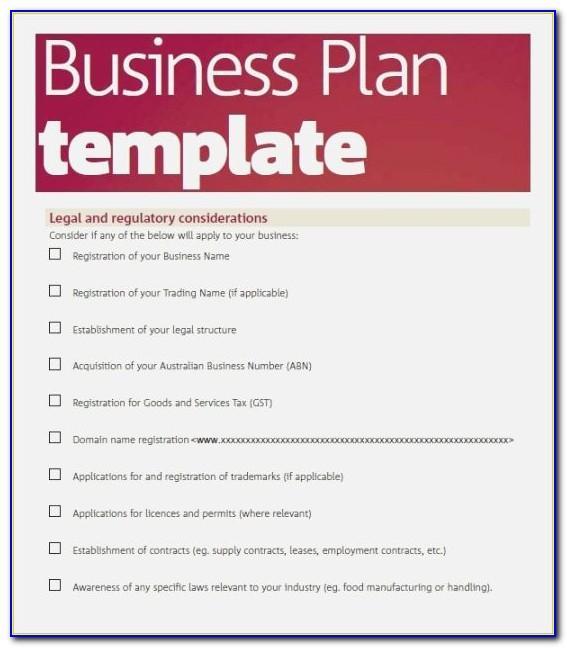 Simple Business Plan Template Uk