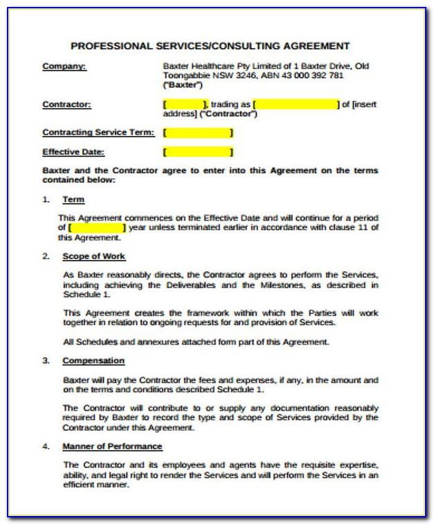 Simple Construction Contract Agreement Sample