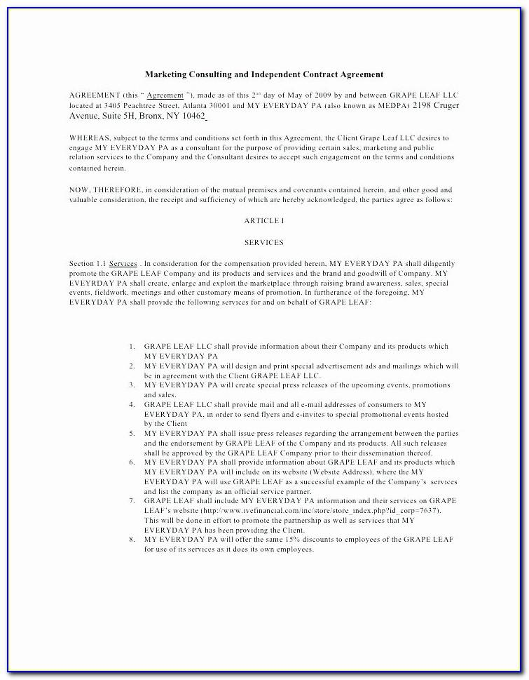 Simple Construction Contract Template Pdf