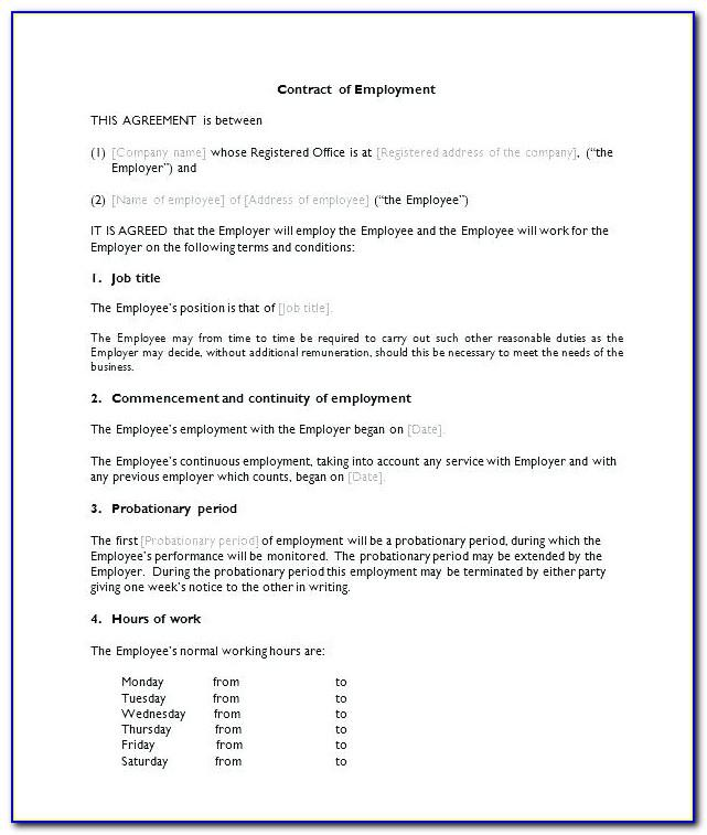 Simple Employment Agreement Letter