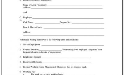 Simple Employment Contract Agreement