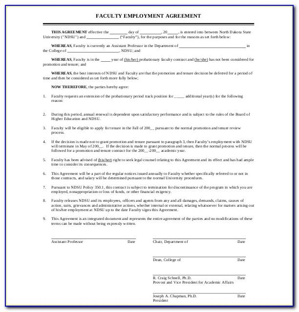 Simple Employment Contract Example