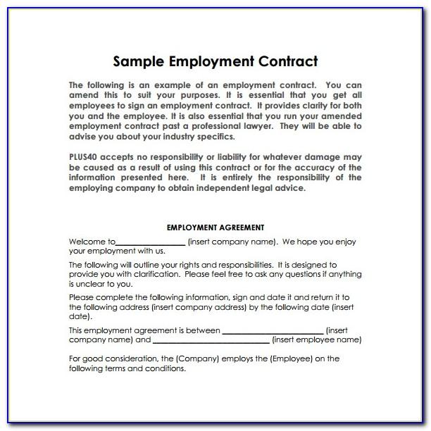 Simple Employment Contract Sample Philippines