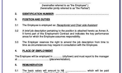 Simple Employment Contract Template Microsoft Word