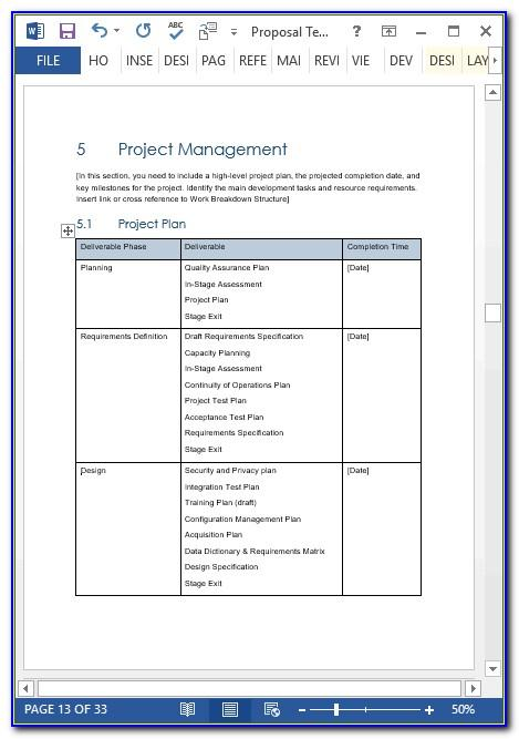Simple Excel Proposal Template