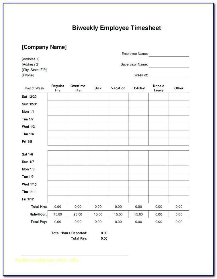 Simple Household Budget Template Printable