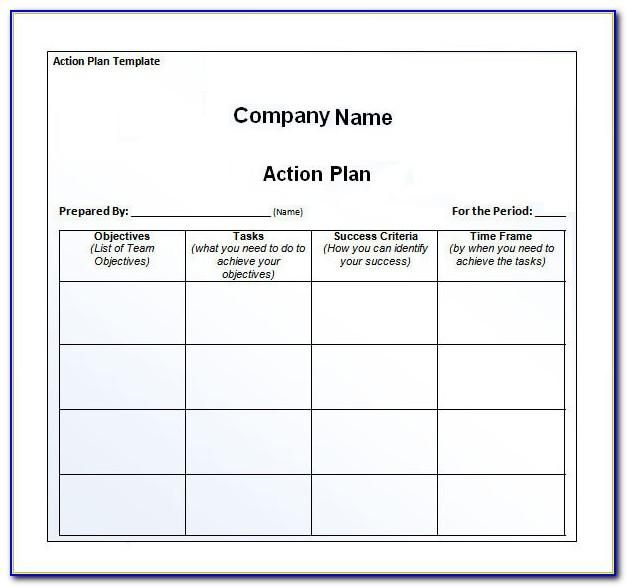 Simple Implementation Plan Template Excel