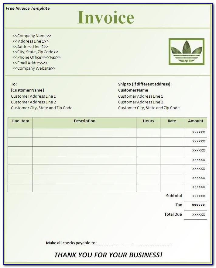 Simple Invoice Template Excel Free