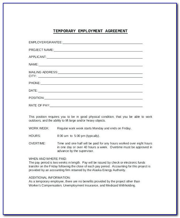 Simple Job Contract Sample