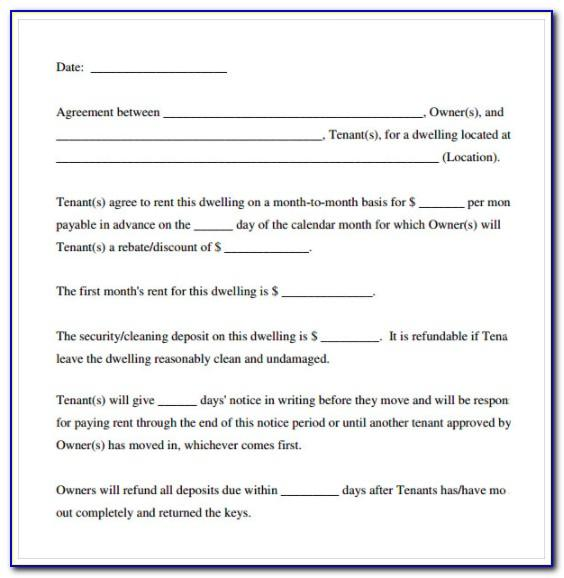 Simple Lease Agreement Template Pdf