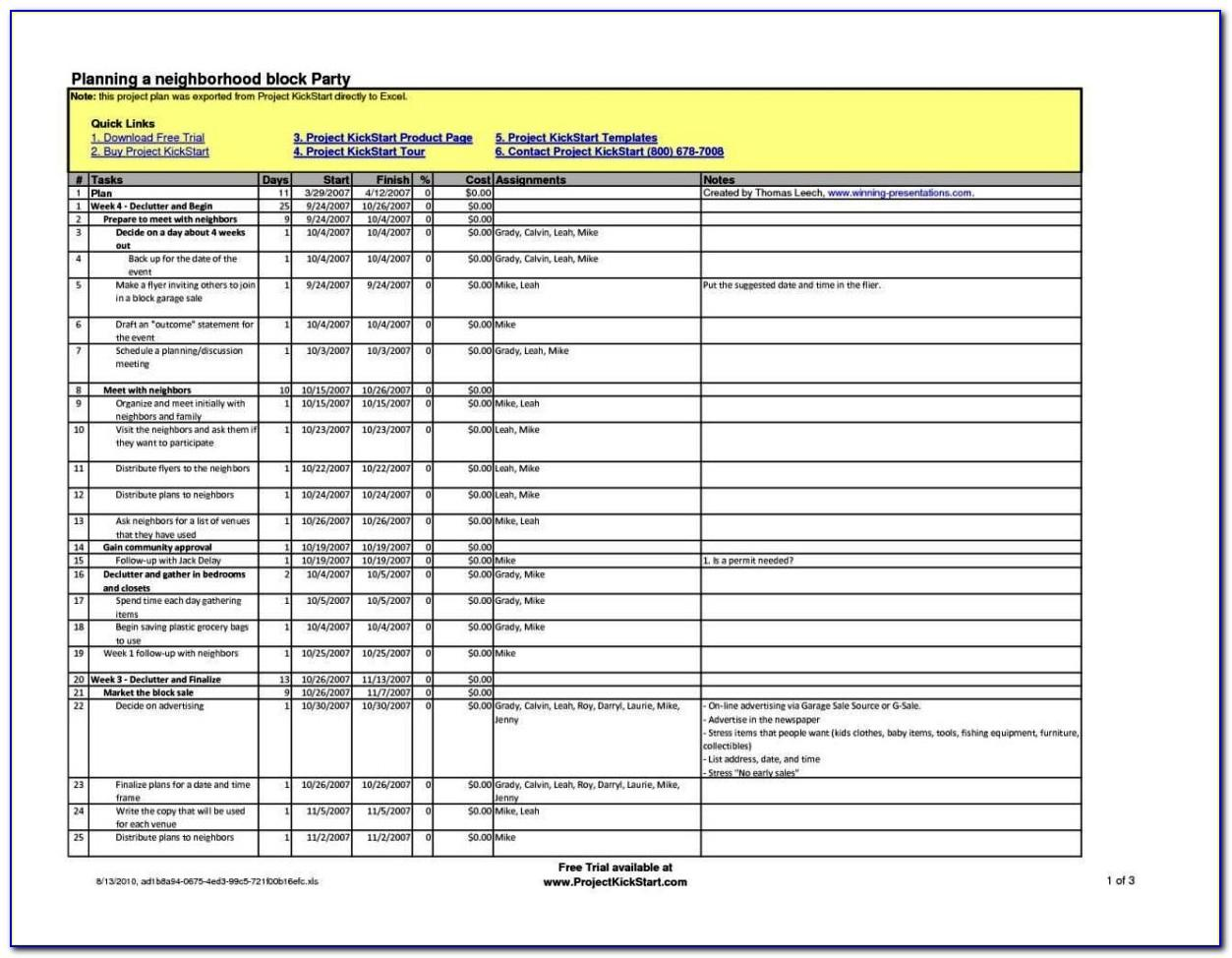 Simple Project Plan Template Excel 2013