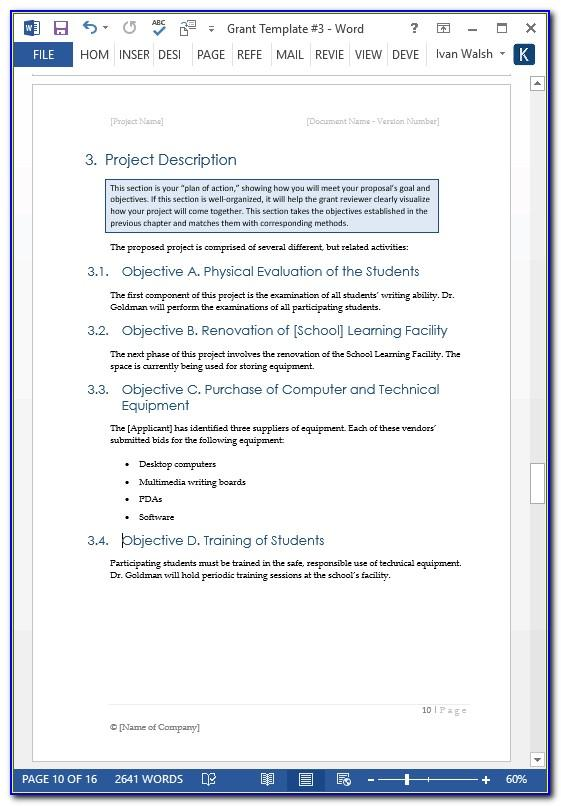 Simple Project Proposal Template Excel