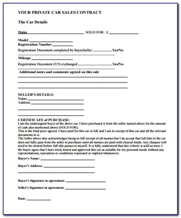 Simple Sales Agreement Template Doc