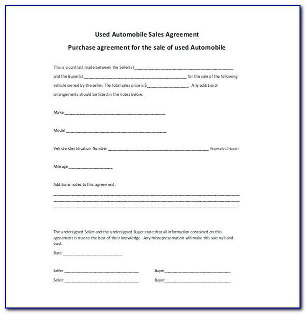 Simple Sales Agreement Template Free
