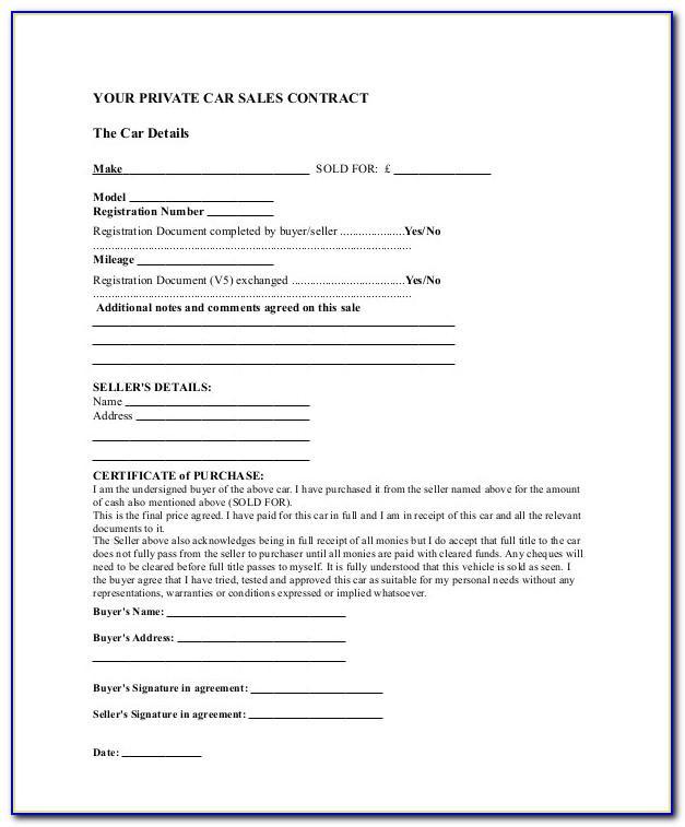 Simple Sales Agreement Template Pdf