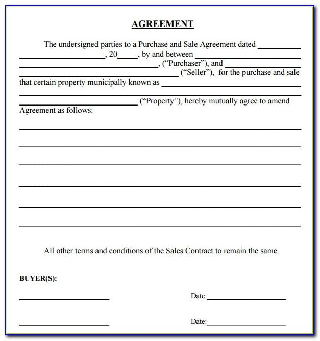 Simple Sales Contract Template Word