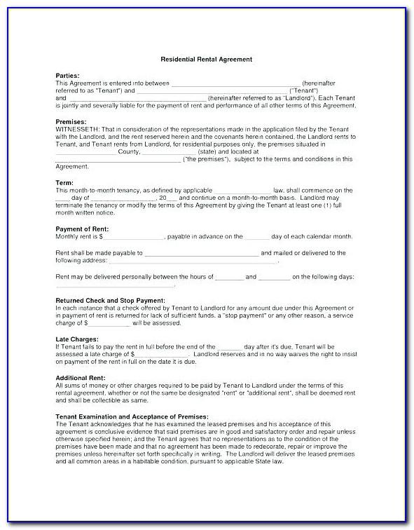 Simple Tenancy Agreement Template Free