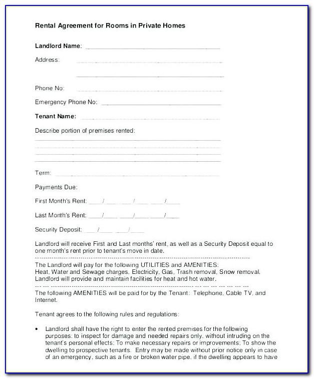 Simple Tenancy Agreement Template Uk