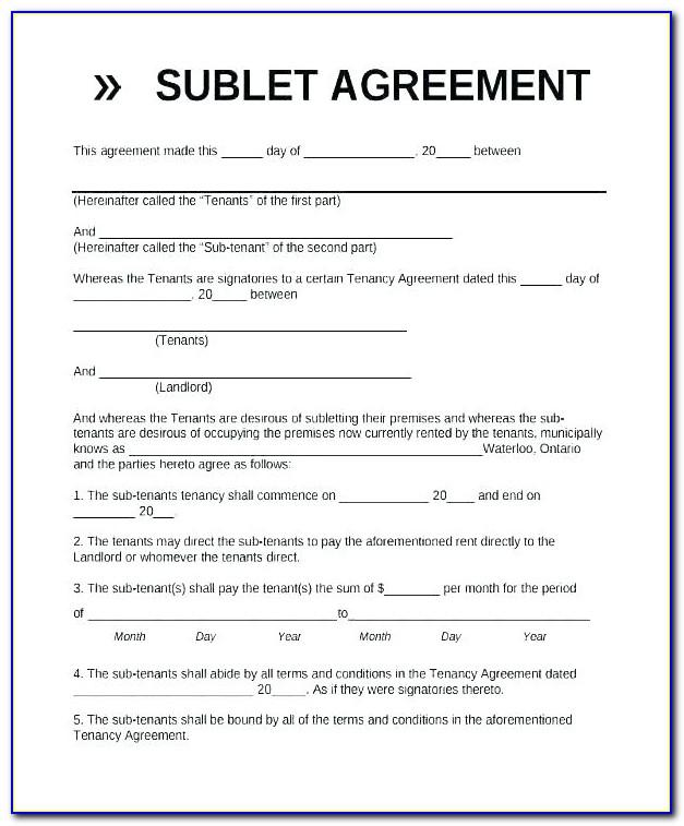 Simple Tenancy Agreement Template Word