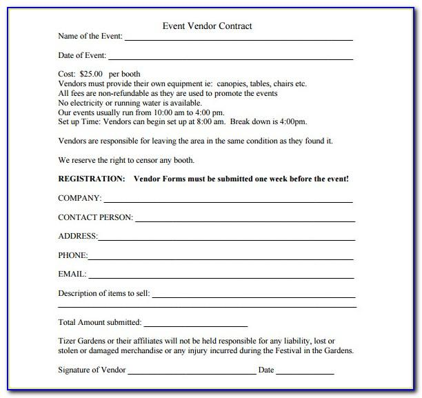 Simple Vendor Agreement Form