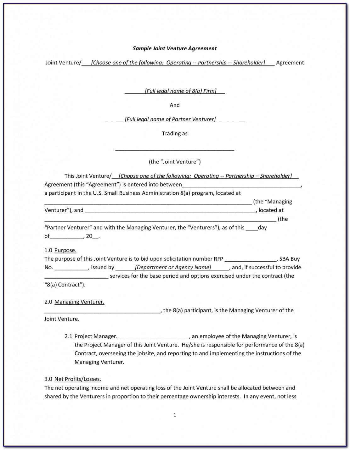 Simple Working Contract Template