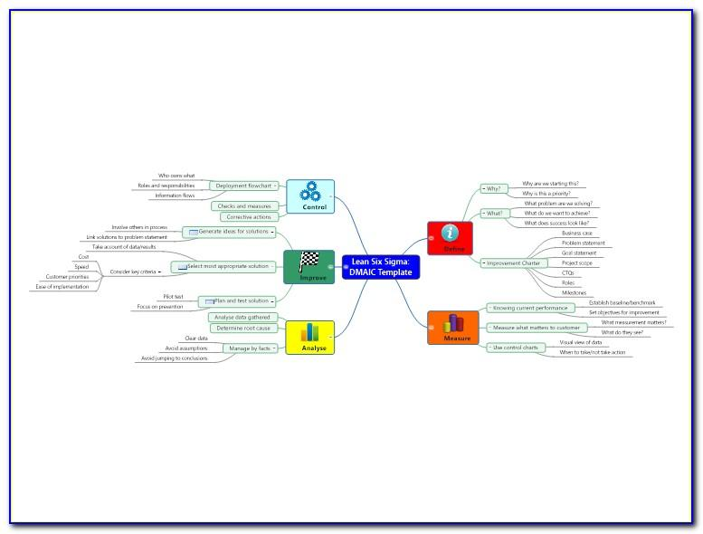 Six Sigma Detailed Process Map Template