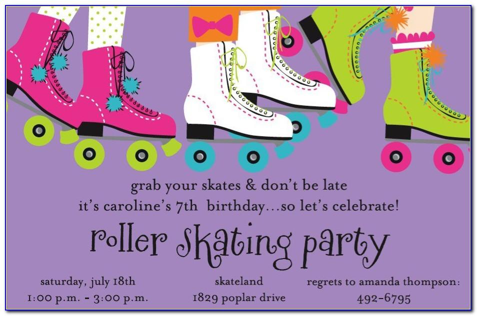 Skating Birthday Party Invitations Template