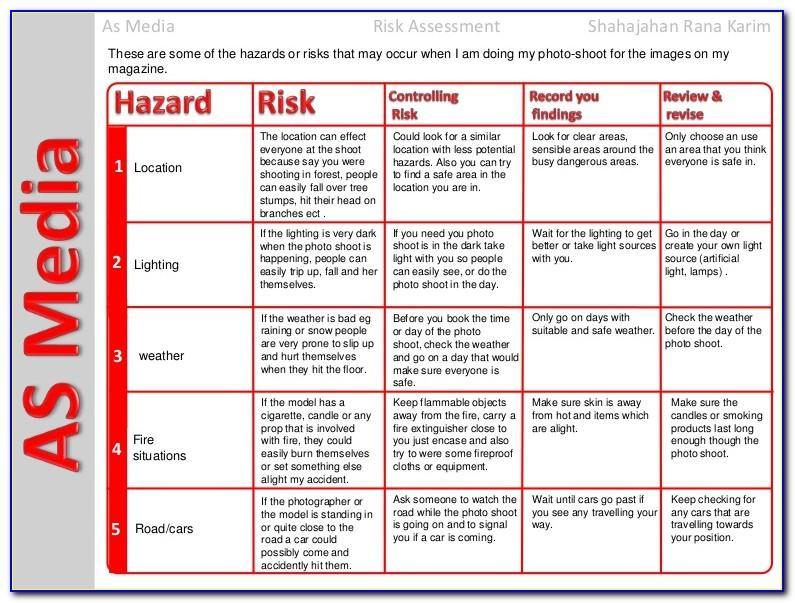 Slips Trips And Falls Risk Assessment Doc