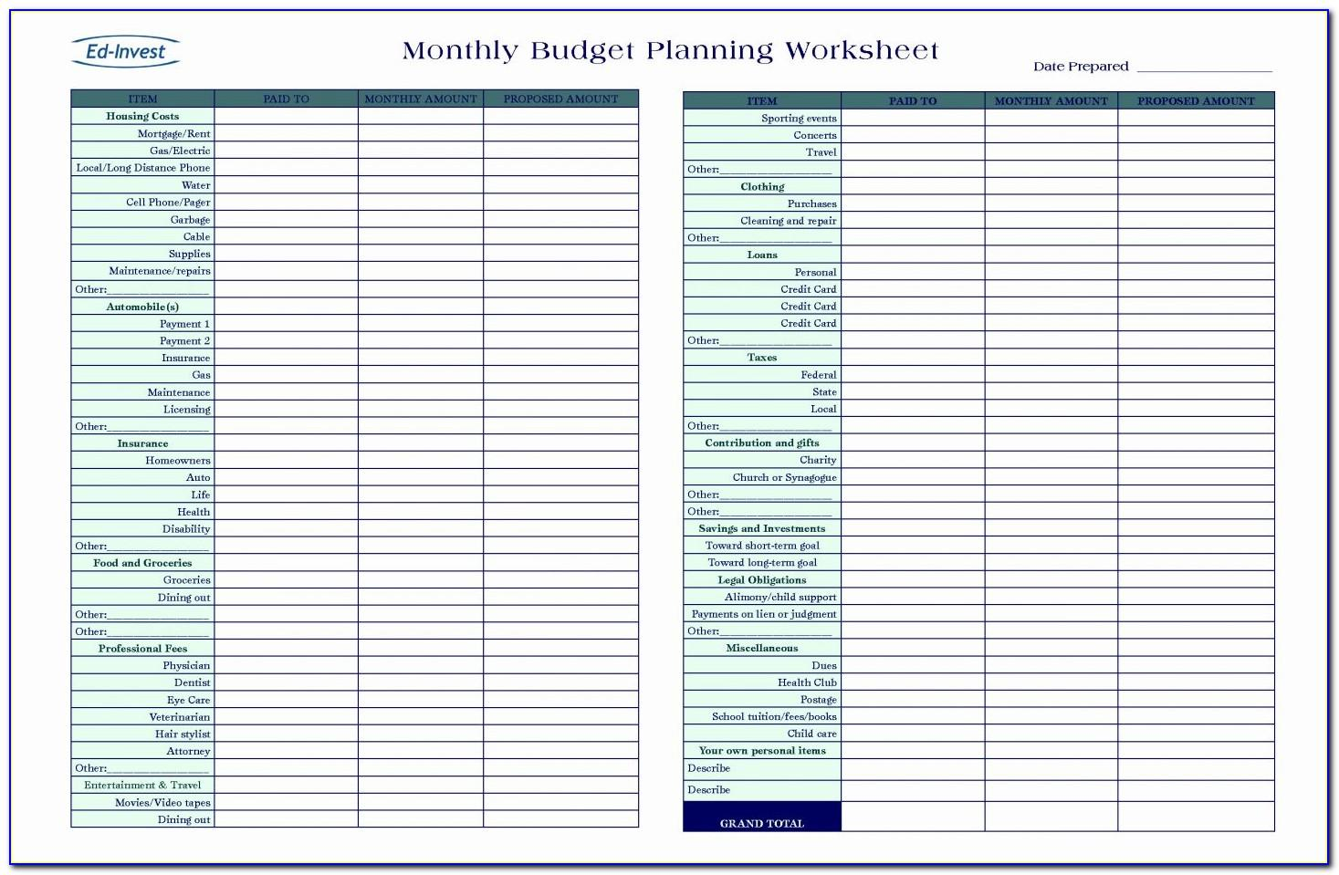 Small Business Expense Spreadsheet Excel Template