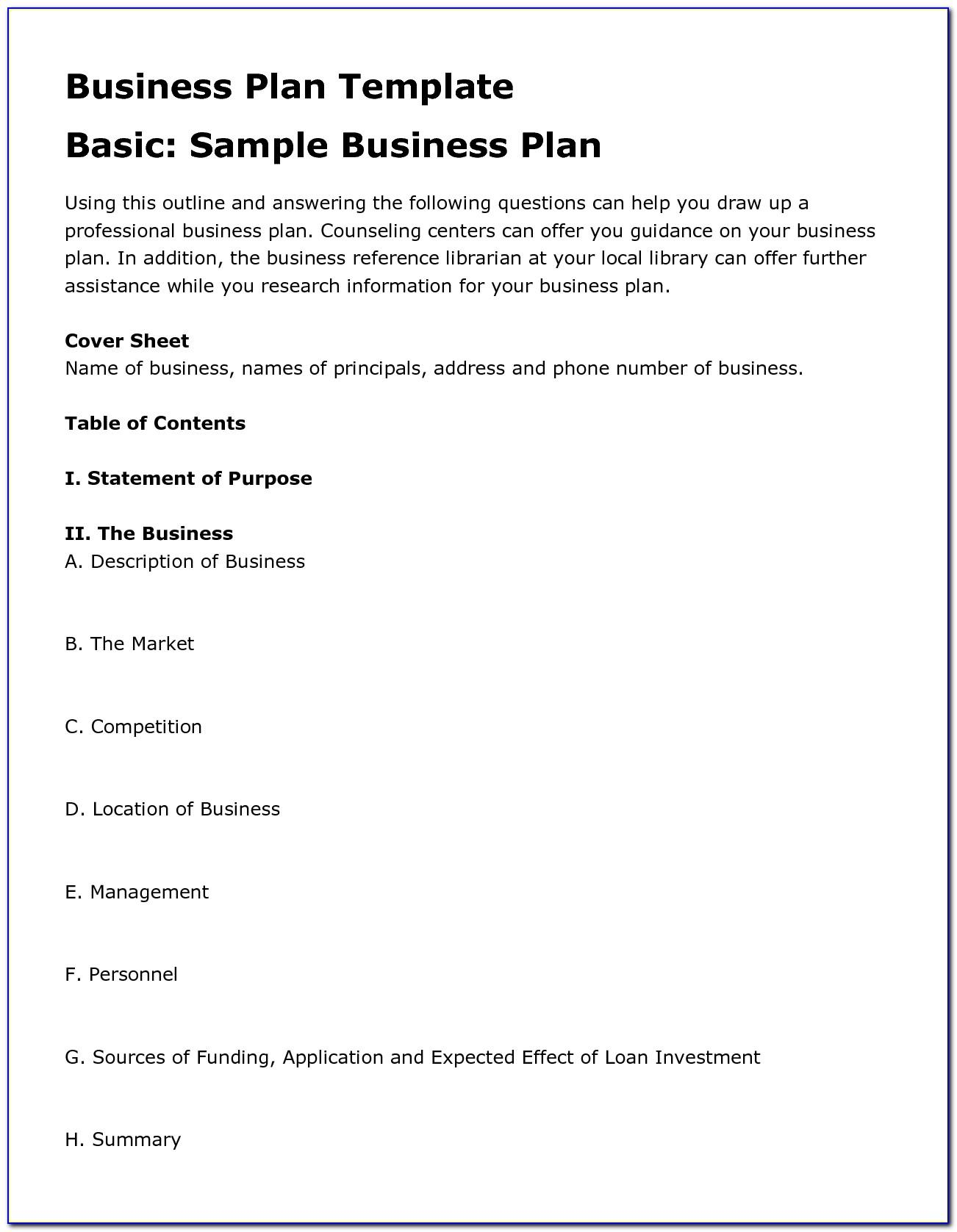 Small Business Plan Samples
