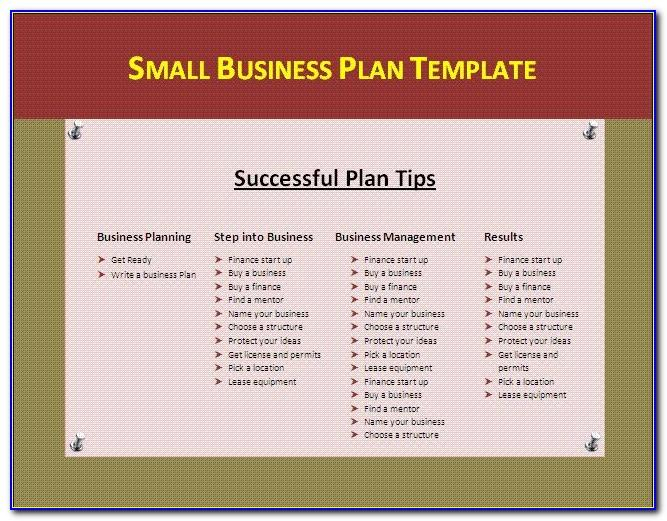 Small Business Plan Template Excel