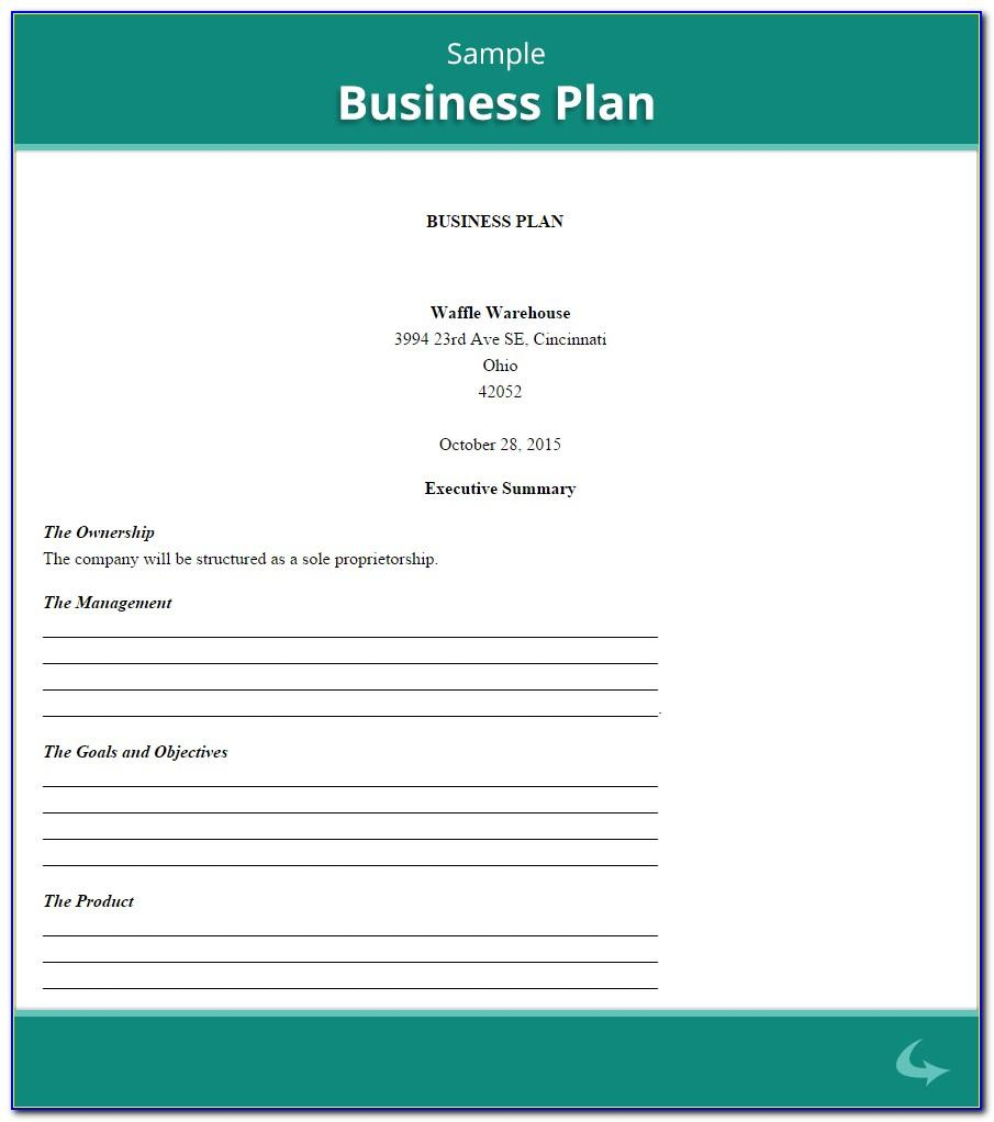 Small Business Plan Template Free Canada