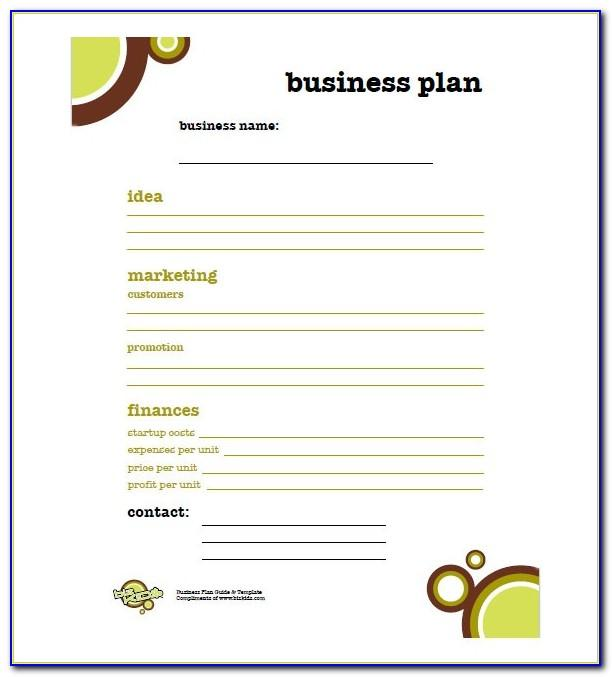 Small Business Plan Template Simple