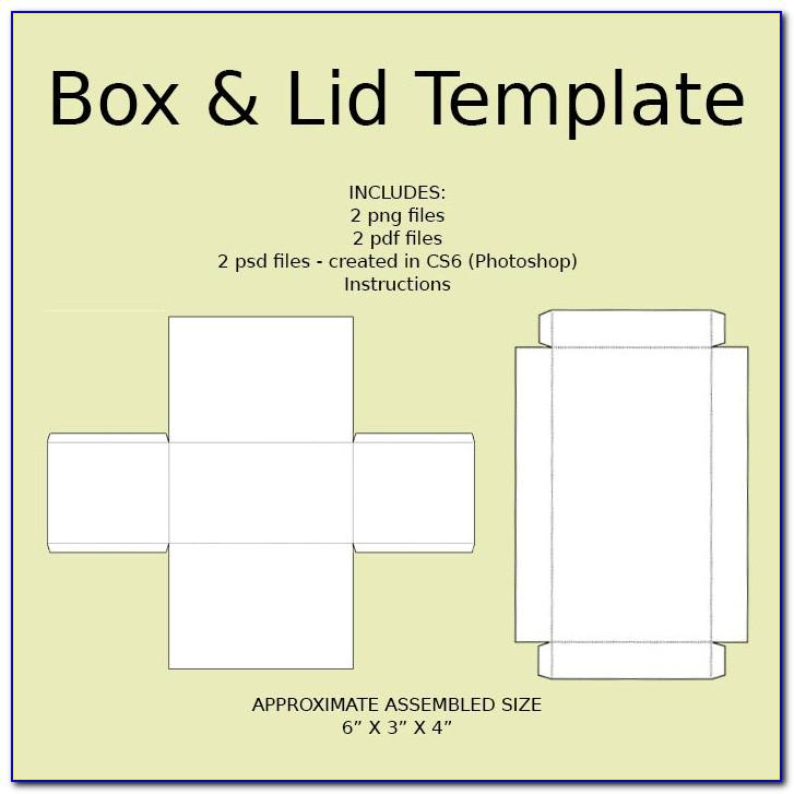 Small Gift Box With Lid Template
