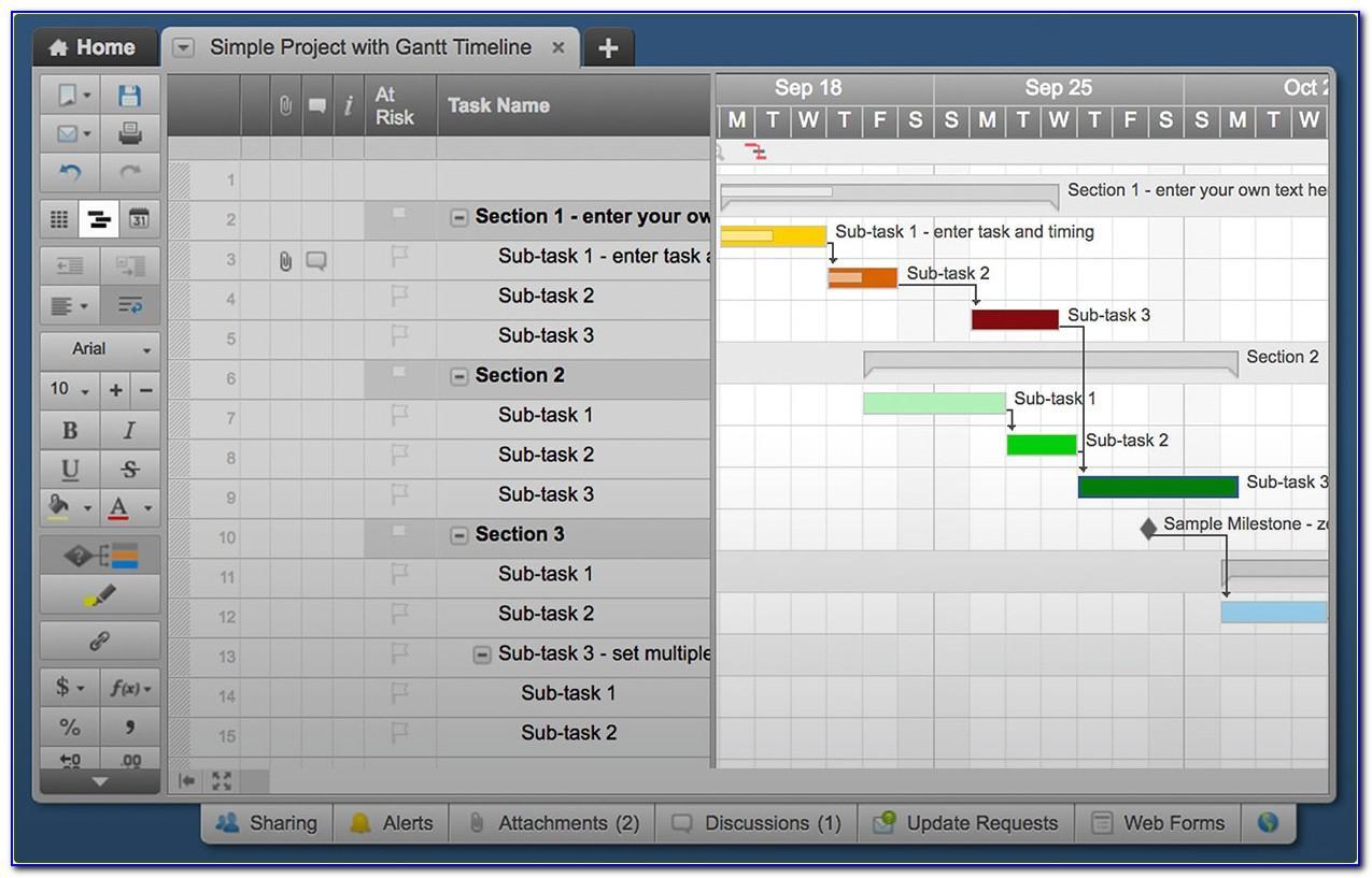 Smartsheet Gantt Chart Template