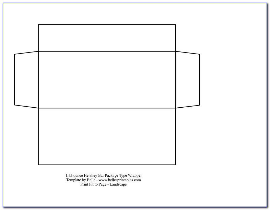 Snack Size Hershey Bar Wrapper Template