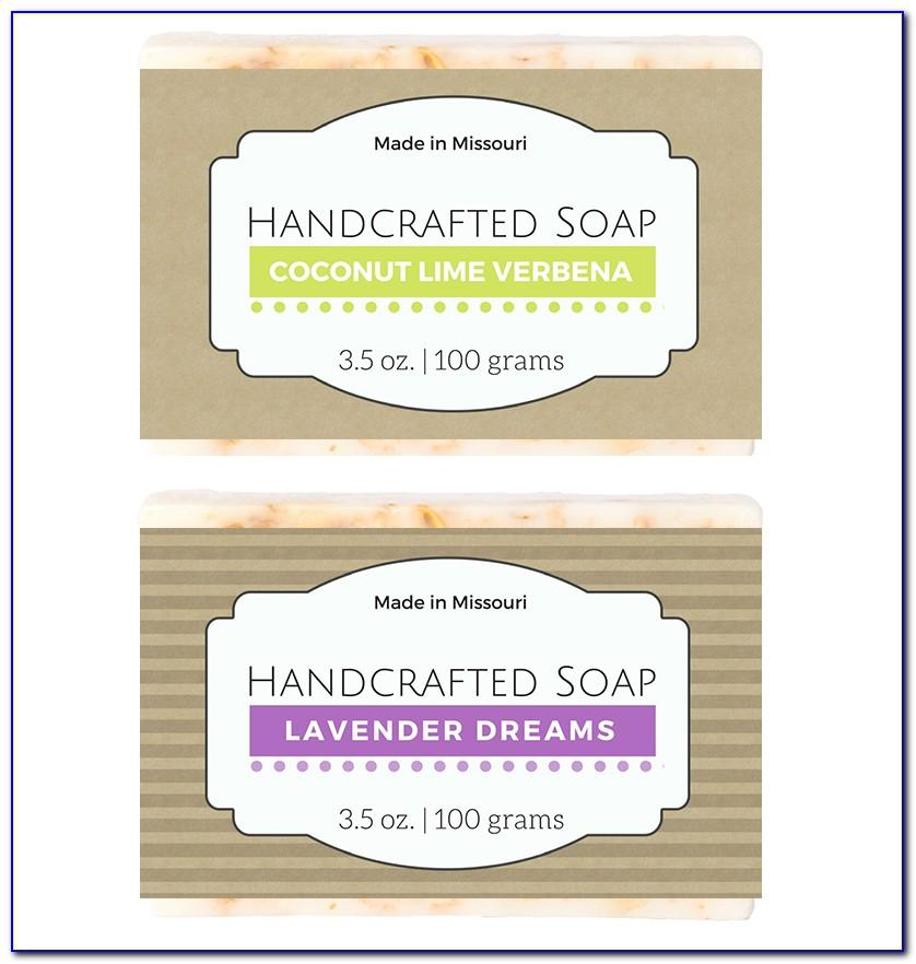 Soap Label Template Psd