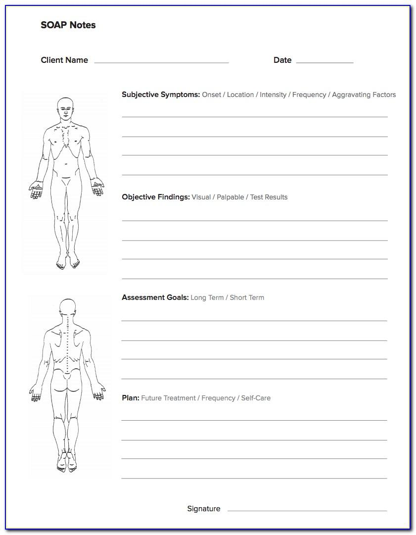 Soap Note Example Massage Therapy